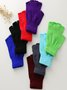 Vintage Statement Plain Fingerless Casual Gloves