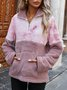 Casual Layered Tie-Dyed Long Sleeve Sweatshirt