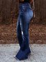 Retro high-rise jeans flared pants