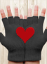 Valentine's Day Couple Loves Printed Gloves