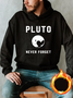 Hoodie Vintage Cotton-Blend Men's Fashion Print Sweatshirt