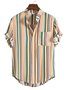 Men's Stand Collar Striped Shirts