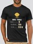 Cotton-Blend Vintage Men's Fashion Print Tee