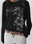 Long Sleeve Floral Casual Shirts & Tops