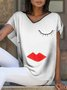 White V Neck Casual Shirts & Tops