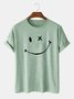 Cotton-Blend Printed Simple Men's Fashion Print Tee