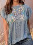 Guipure Lace Floral Cotton Elegant Shirts & Tops