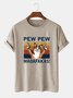 Cartoon Cotton-Blend Casual Tee Shirts & Tops