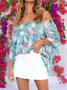 Frill Sleeve Floral Shirts & Tops