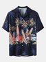 Men's Shirt Collar Casual Printed Shirts