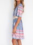 Floral Short Sleeve Boho Dresses