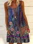 Floral Casual Sleeveless Dresses