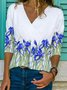 Shift Long Sleeve Floral Casual Shirts & Tops