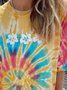 Casual Ombre/tie-Dye Shirts & Tops