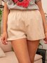 Pockets Plain Summer Casual Pants Shorts