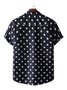 Men's Starry Sky Shirt Collar Printed Shirts