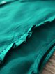 Shirt Collar Green A-line Women Daytime Casual Short Sleeve Cotton Buttoned Solid Casual Dress
