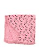 Pink Fringed Printed Acrylic Cute Scarf