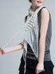 White Lace Trimmed Casual Scarf