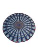 Trible Printed Chiffon Statement Round Blanket