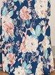 Women Print Dress V neck Beach 3/4 Sleeve Floral Dress