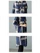 Casual Checkered Thicken Shirt Dress