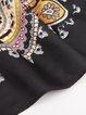 Black Casual Silk Scarf