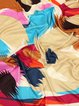 Multicolor Abstract Casual Silk Scarf
