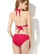 Red Grommets Wireless Solid Halter One-piece