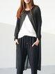 Black Simple A-line Outerwear
