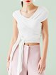 Short Sleeve Cotton-blend Girly Crop Top