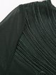 Dark Green Nylon Simple Paneled Casual Top