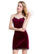 Spaghetti Solid Velvet Dress