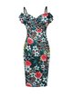 Vintage Floral Print Spaghetti Dress