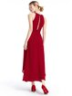 Burgundy Swing Tiered Sleeveless Chiffon Dress