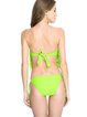 Green Bandage Ruffles Bandeau One-piece