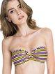 Yellow Bandeau Stripes Bikini