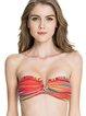 Bandage Stripes Bandeau Nylon Bikini