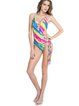 Multicolor Cut-outs Stripes One-piece