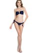 Navy Blue Bandeau Bandage Bikini