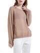 Crew Neck Casual Long Sleeve Plain Viscose Casual Top
