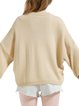 Beige Casual H-line Sweater