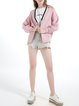 Pink Casual V Neck Outerwear