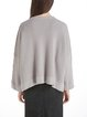 Dropped Shoulder Solid Shift Wool Blend Sweater