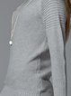 Gray Turtleneck Simple Sweater