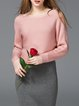 Solid Casual Slash Neck Asymmetrical Sweater