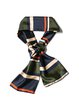 Multicolor Stripes Polyester Scarf