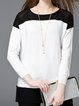 Color-block Shift Long Sleeve Sweater