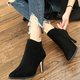 High Heel Faux Suede Casual Zipper Boots