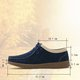 Second Layer Leather Platform Magic Tape Loafers